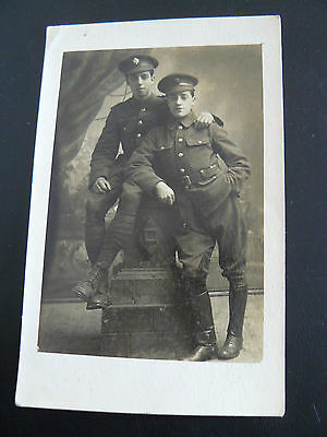 Real Photo RP Postcard - Army Service Corps soldiers - Ally Slopers Cavalry