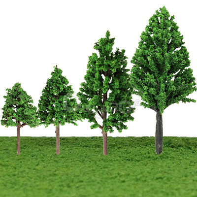 20PCS MODEL TRAIN RAILWAY DIORAMA SCENERY FOREST PINE TREES For HO OO Scale 68m