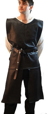 Larp-Cosplay-SCA-Game of Thrones-Re enactment- LONG LEATHER JERKIN  2 Colours