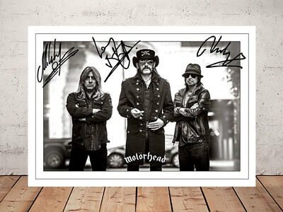 Lemmy Motorhead Band Autographed Signed Photo Print