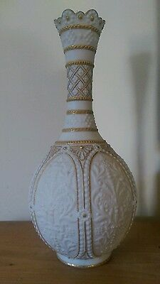 antique copeland crystal palace art union parian ware vase