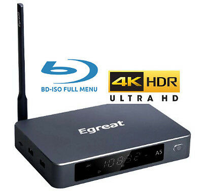 Egreat A5 Ultra-HD 4K HDR BLU-RAY ISO FULL MENU Android Media Box