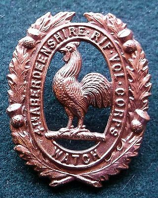 Cap Badge Glengarry Badge 4Th Aberdeenshire R V Corps