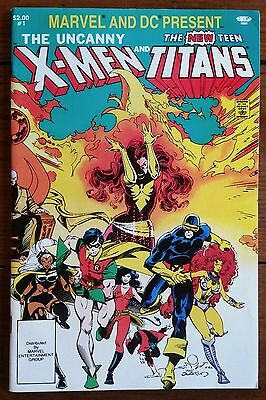 MARVEL AND DC PRESENT 1 featuring THE UNCANNY X-MEN and THE NEW TEEN TITANS 1982