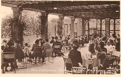 Early HARROGATE Sun Colonnade, Valley Gardens - people sitting at tables