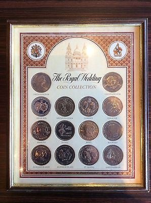 Royal Wedding Framed Coin Collection Prince Princess Wales Charles & Diana 1981