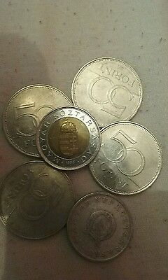 rare 1 forint 1950 coin plus a small lot of vintage forint 6 coins