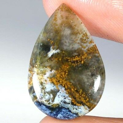 09.40Cts. 100% Natural Pietersite Rarest Chatoyant Loose Gemstone Pear Cabochon