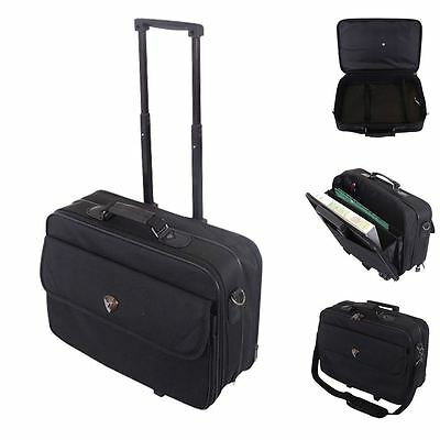 "17"" Business Laptop Cabin Approved Wheel Trolley Suitcase  Briefcase Travel Bag"