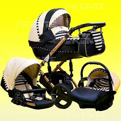 Pram Pushchair Car seat Buggy Alu chassis travel system 3in1 Kente