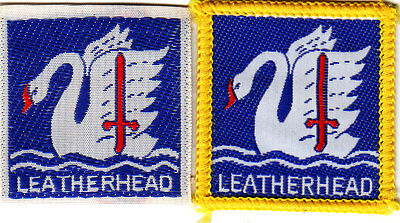 Boy Scout Badges LEATHERHEAD District ribbon+bound