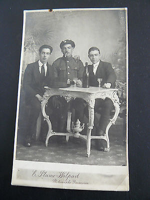 Real Photo RP Postcard - Army Service Corps soldiers - E Plume Wilpart