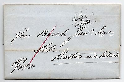 1st May 1840 Staffordshire local mail Rugeley to Barton with Needwood uniform pe