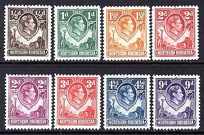 Northern Rhodesia KGV1  1938-52 Selection to 9d LM/Mint