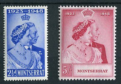 Montserrat KGVI 1948 Royal Silver Wedding SG115/6 MNH