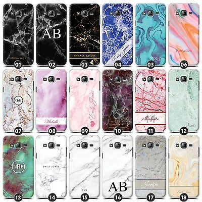 Personalised Marble Case/Cover for Samsung Galaxy Core/Grand Initial/Name/Custom
