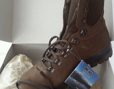 British Army Issue Meindl High Liability Desert Suede Boots Size 9M New