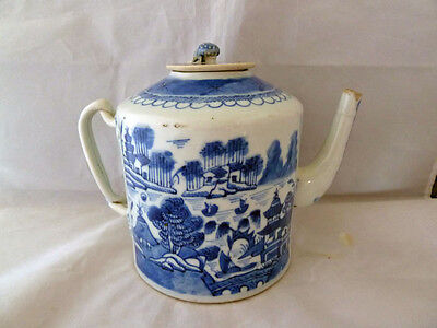 Chinese 18th Century Blue and White Teapot