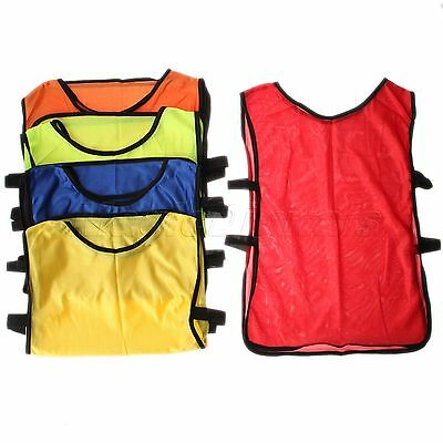 Sport Mesh Training Bibs Football NetballL Rugby Hockey Cricket Small Kids Child