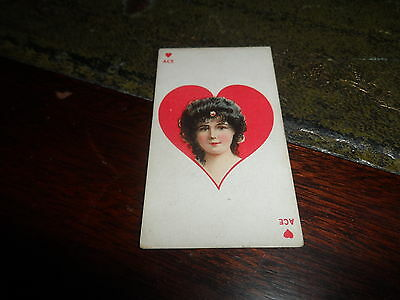 American Tobacco ~ Beauties ~ Playing Card ~ Ace Hearts (Blue Back)