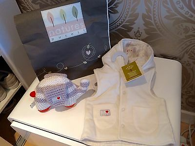natures purest Reversible Jacket 0-3 Months And Elephant NWT