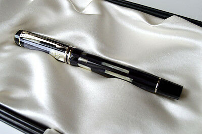 Parker Duofold Mosaic Black Rollerball Pen New In Box - Very Rare