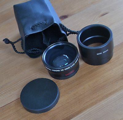 Wide angle/ macro lens for Canon Powershot S3/S5 with converter