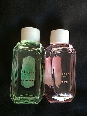 New Green And Pink Ted Baker Bubble Bath Travel Size 50ml Each