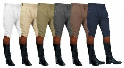 MARK TODD MENS AUCKLAND BREECHES Pleated Front Knee Patch All Colours and Sizes