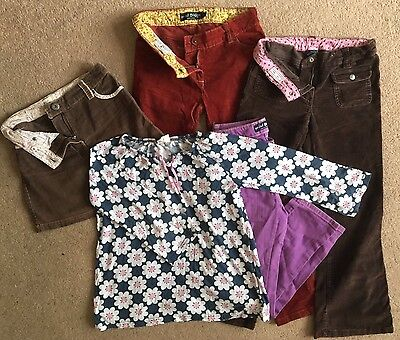 Bundle of Mini-Boden clothes. 3 trousers, 1 skirt and 1 top. Age 9-10. Ex cond.