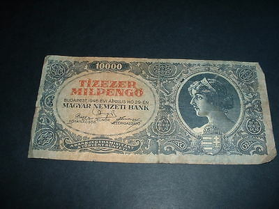 Ww11  Old Vintage  Banknote Hungary 10,000 Pengo  1946  (463