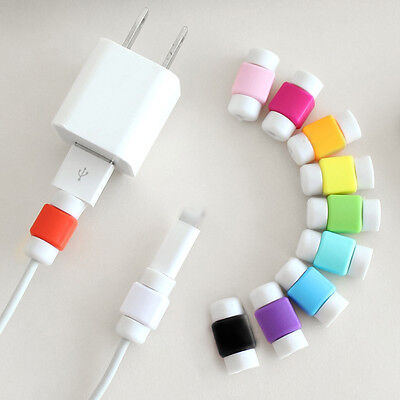5PC/set USB Daten Ladekabel Headset Saver Schutz für iPhone 5 5 s 6 6s Plus