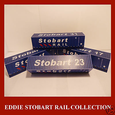 Model Railway Eddie Stobart Shipping Container Card Kit Stobart x4 HO Gauge 1:87