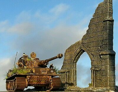 Amazing ruined church base suit 1/72 20 mm 25 mm scale
