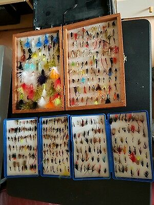 Assorted Trout Flies & Boxes