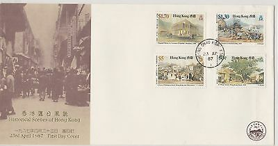 China Hong Kong 1987 Historical Scenes CPA FDC First Day Cover