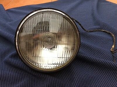 Old Lucas  700 Headlamp With Wires And Fitting Unit