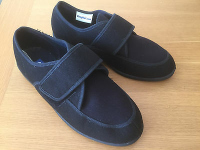 Mens Cosyfeet Slippers Navy adjustable Extra Wide Fit Size 12 (47)