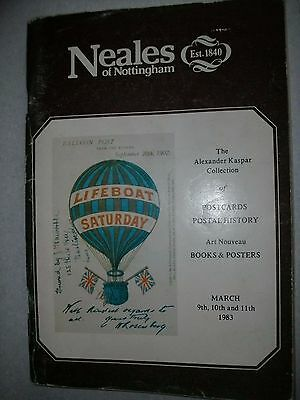 Neales Auction Catalogue 1983 Postcards And Postal History