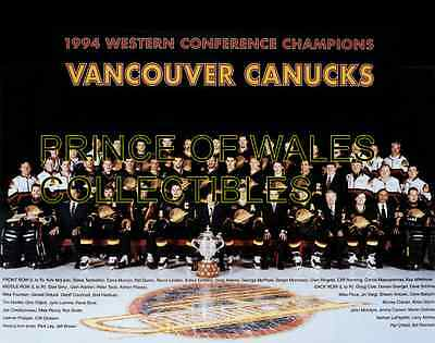 1994 Vancouver Canucks Team Photo 8X10
