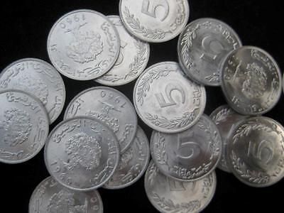 Tunisia 5 Millim 1960  BU lot of 25 BU coins #16