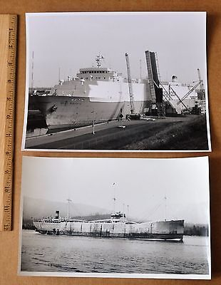 NORWAY: CARGO SHIPS, DANWOOD (1933 VANCOUVER), DYVI PACIFIC (1970s WELLAND CANAL
