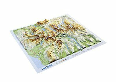 Lake District Raised Relief Map Sheet map Book New