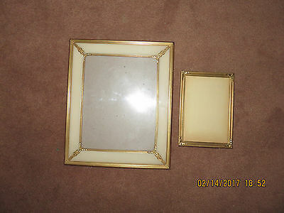 two Vintage Gold Plated Picture Frames 5 X 7 and 10 X 12 inches