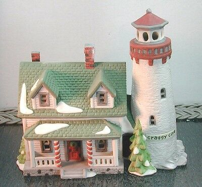 """Vintage New England """"craggy Cove Lighthouse"""" D56 59307  Retired"""