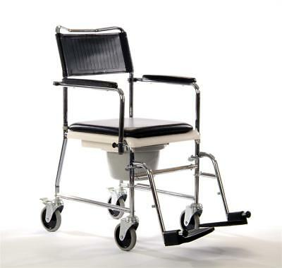 Coopers Mobile Commode Wheelchair With Detatchable Footrests