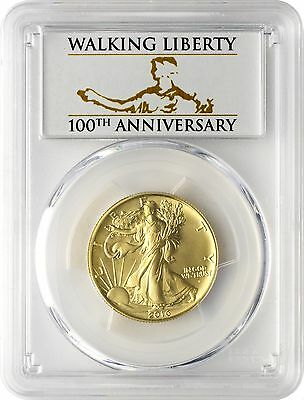 2016-W Gold Walking Liberty Half Dollar Centennial PCGS SP70 First Strike - CL