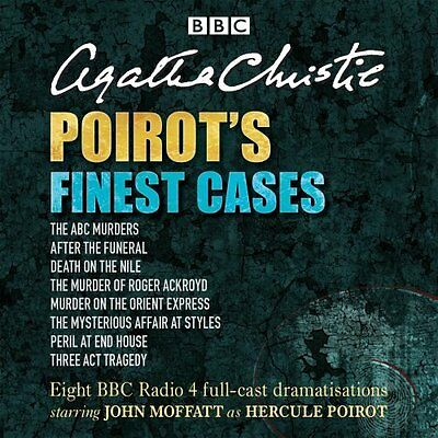 Poirot's Finest Cases by Agatha Christie CD-Audio Book New
