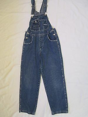 Womens Size Medium Revolt Clothing Denim Blue Jean Bib Overalls Measure 30x29.5