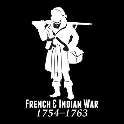French and Indian War Vinyl Window Sticker (#002 F&I Soldier)